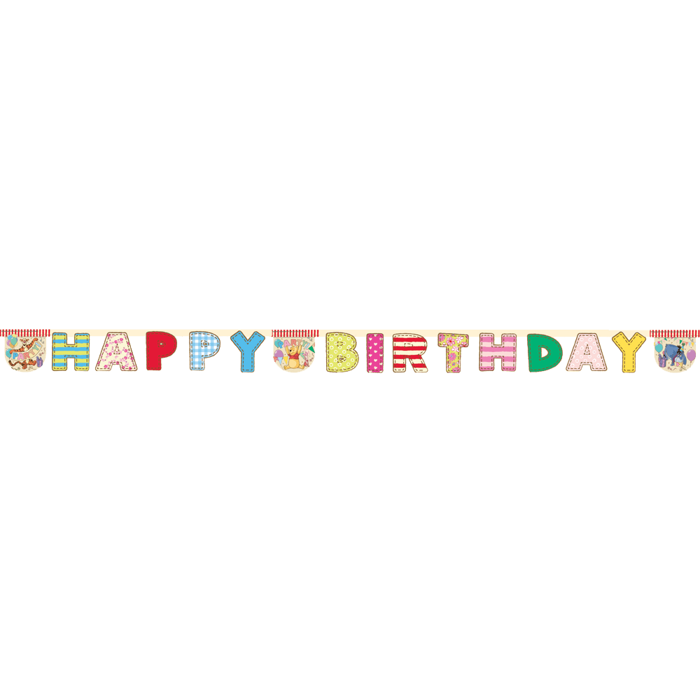 "Peter Plys ""Happy birthday"" banner"