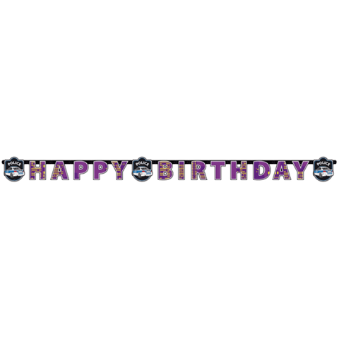 """Happy Birthday"" banner i polititema"