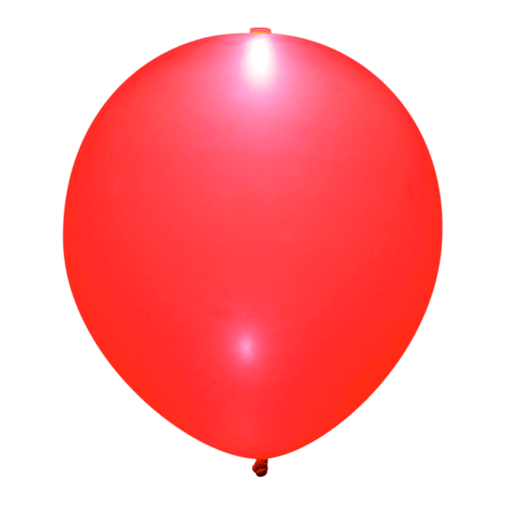 Rød LED ballon