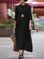 Turtleneck Women Casual Dress Shift Daily Paneled Solid Dress