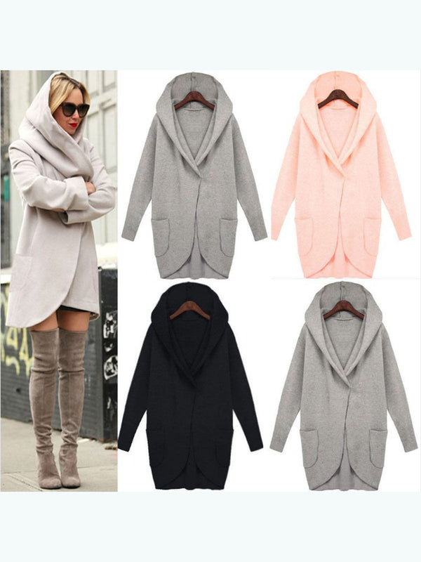 Long Sleeve Pocket Loose Hoodie Outwear