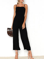 Black Casual Washed Demin Jumpsuit