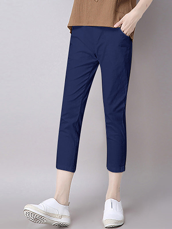 Casual Paneled Linen Pant