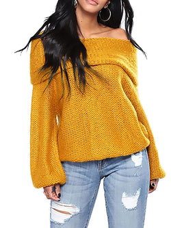 Acrylic Casual Solid Knitted Sweater