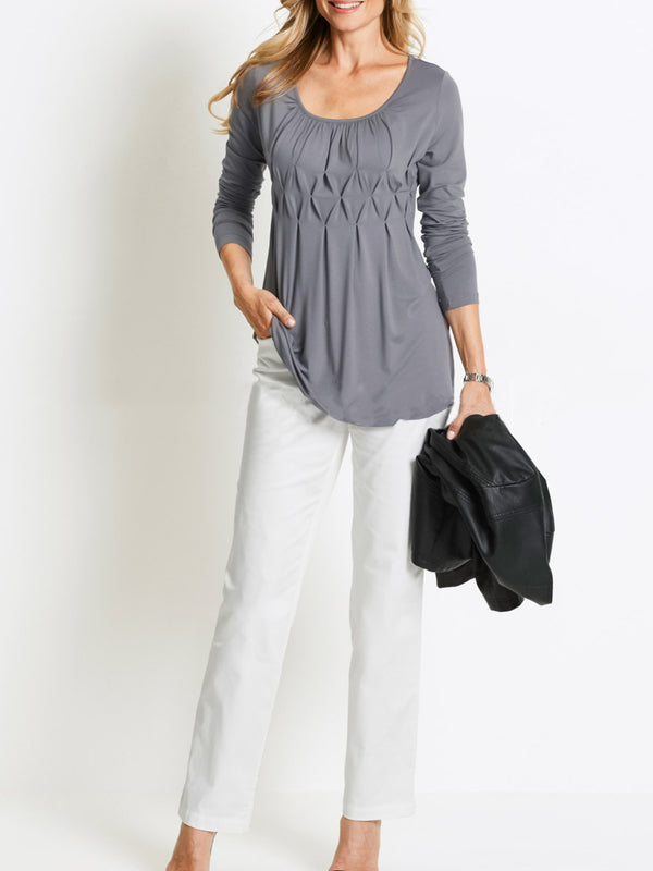 Gathered Casual Blouses &Shirt