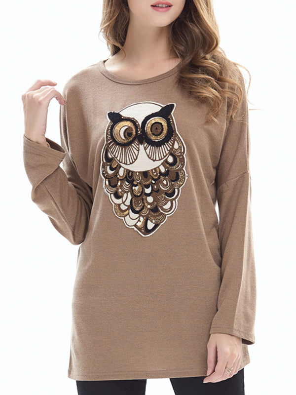 Animal Casual Spandex Hoodies &Sweatshirt