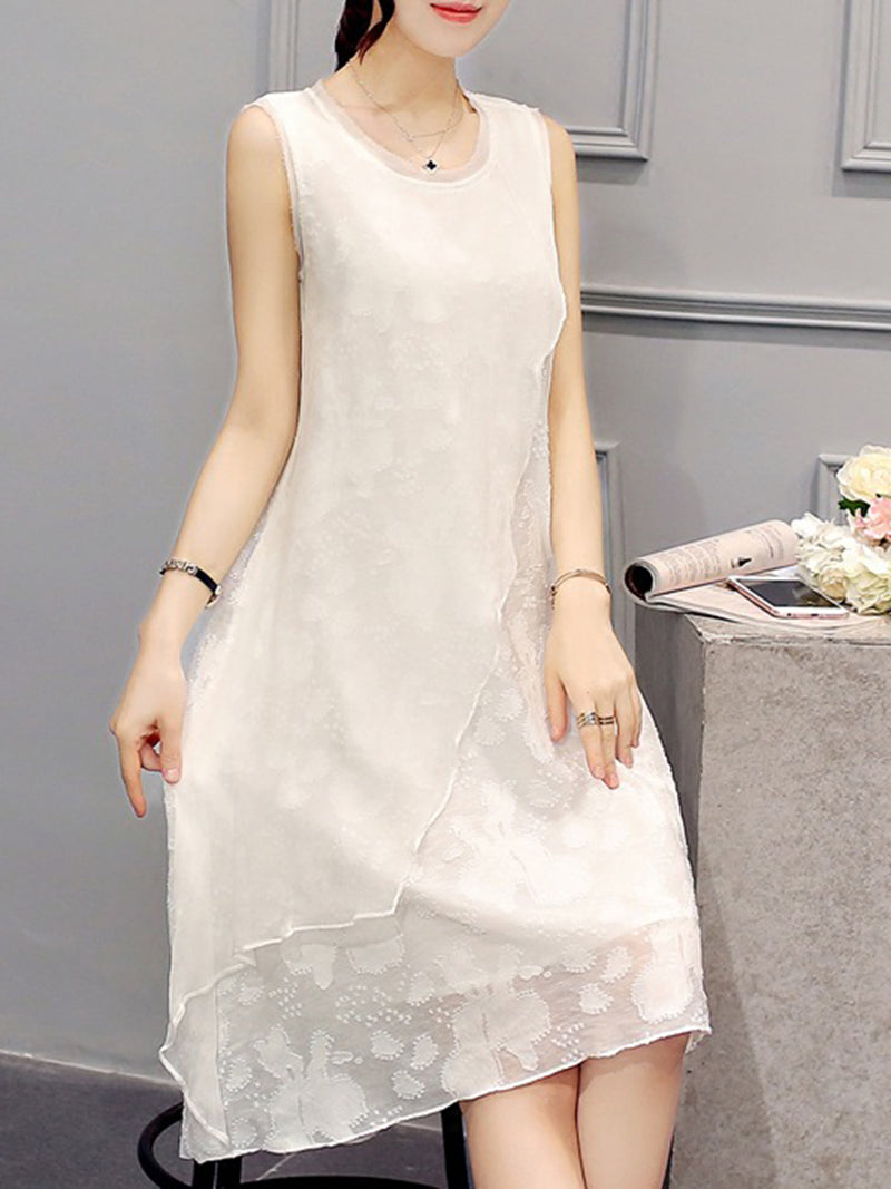 High Low Sleeveless Elegant Dress