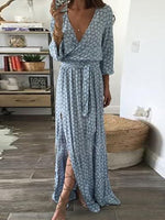 Light Blue Elegant Casual Dress