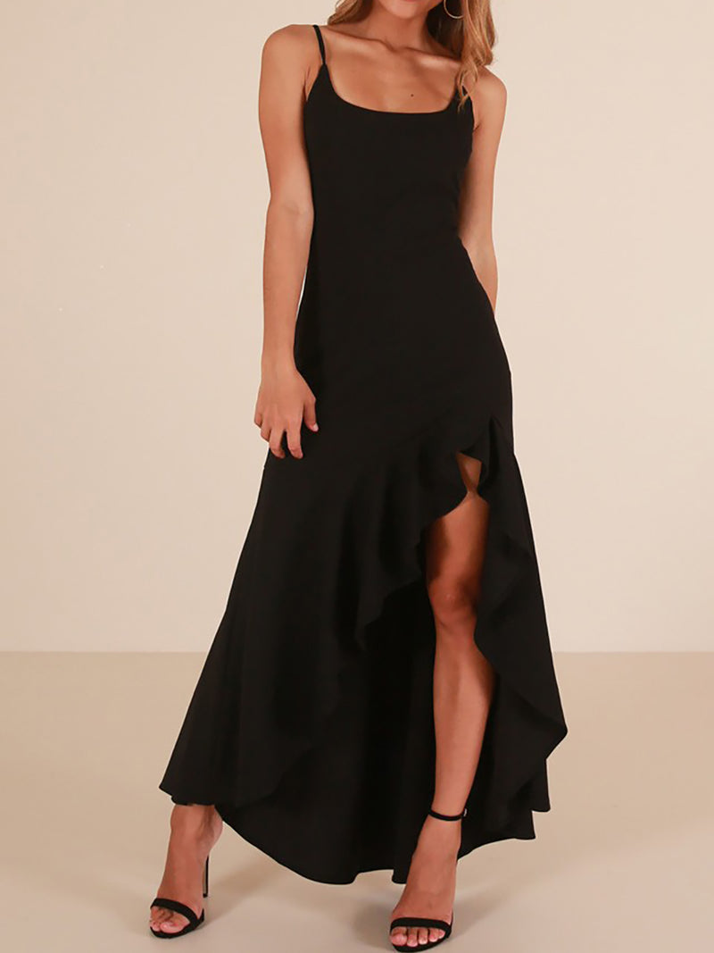 Swing Spaghetti Basic Evening Dress