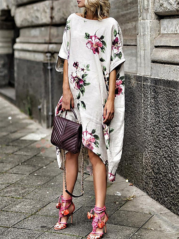 Floral Printed Casual Dress
