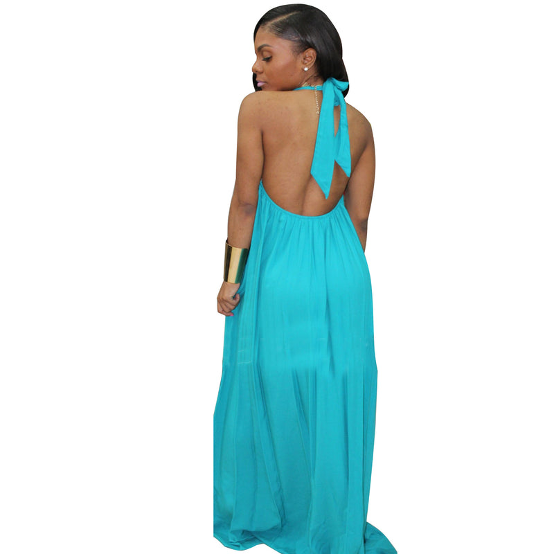 Summer Casual Chiffon Backless Dress