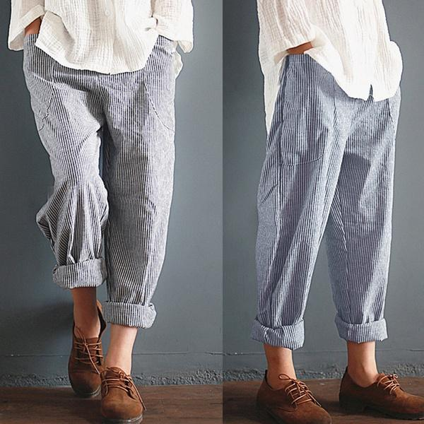 Casual Cotton Pants & Capri
