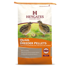Image of a 20KG bag of Haygates Breeder Pellets Quail feed from Avian Breeding