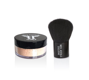 NA Power Powder Foundation Medium 7g + Kabuki - NICK ASSFALG PRO SKINCARE & MAKEUP