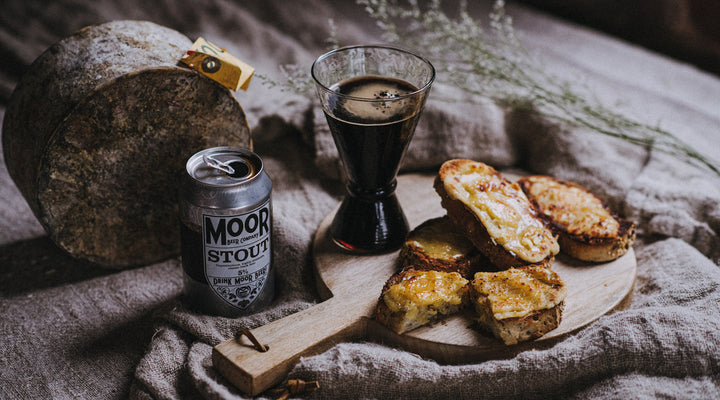 Posh cheese on toast with Moor Beer Stout