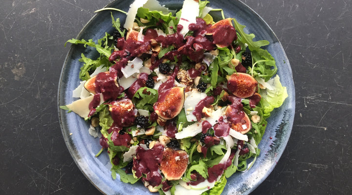Wild Blackberry, Fig & Oak Smoked Goat's Cheese Salad
