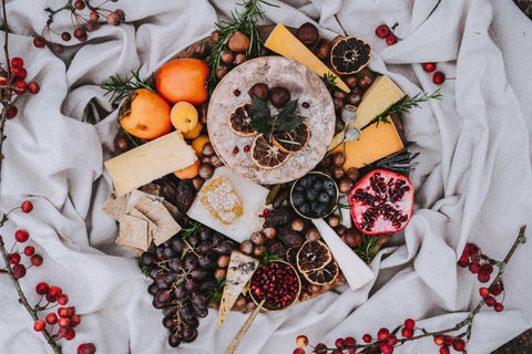 Christmas cheese board styling