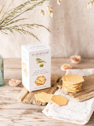 Fine Cheese Co Extra Virgin Olive Oil and Sea Salt Crackers