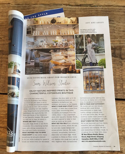 homes and interiors. We re in Country Homes and Interiors Magazine  July 2017 Sam