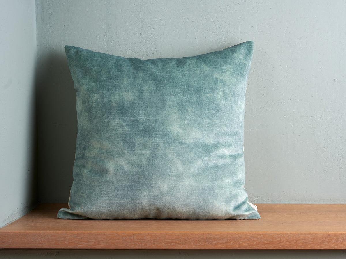 Sam Wilson Lovely Powder Blue Velvet with Linen back Cushion