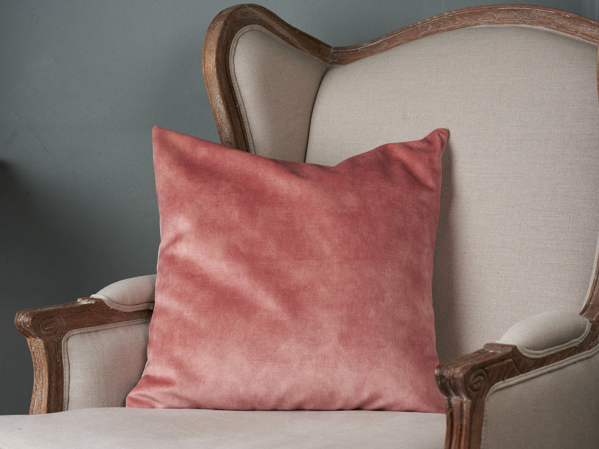 Sam Wilson Lovely Rose Velvet with Linen back Cushion