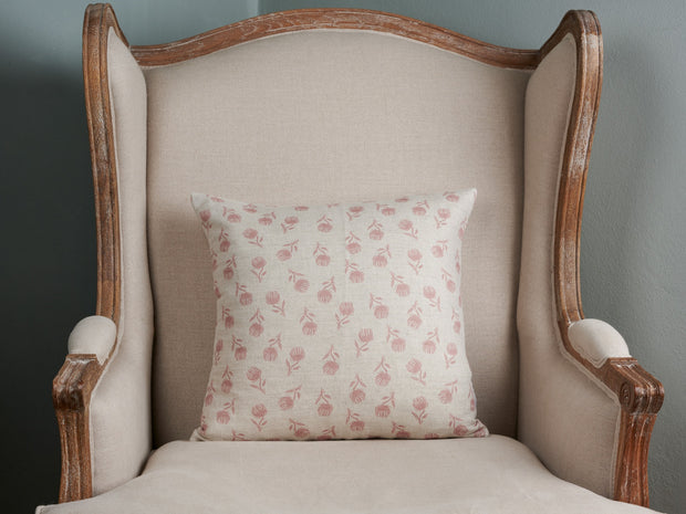 Sam Wilson NEW Pink Clover Square Linen Cushion