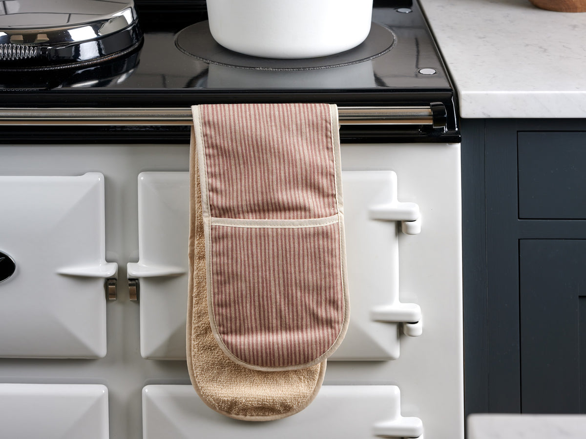 Sam Wilson Pink Stripe Oven Gloves