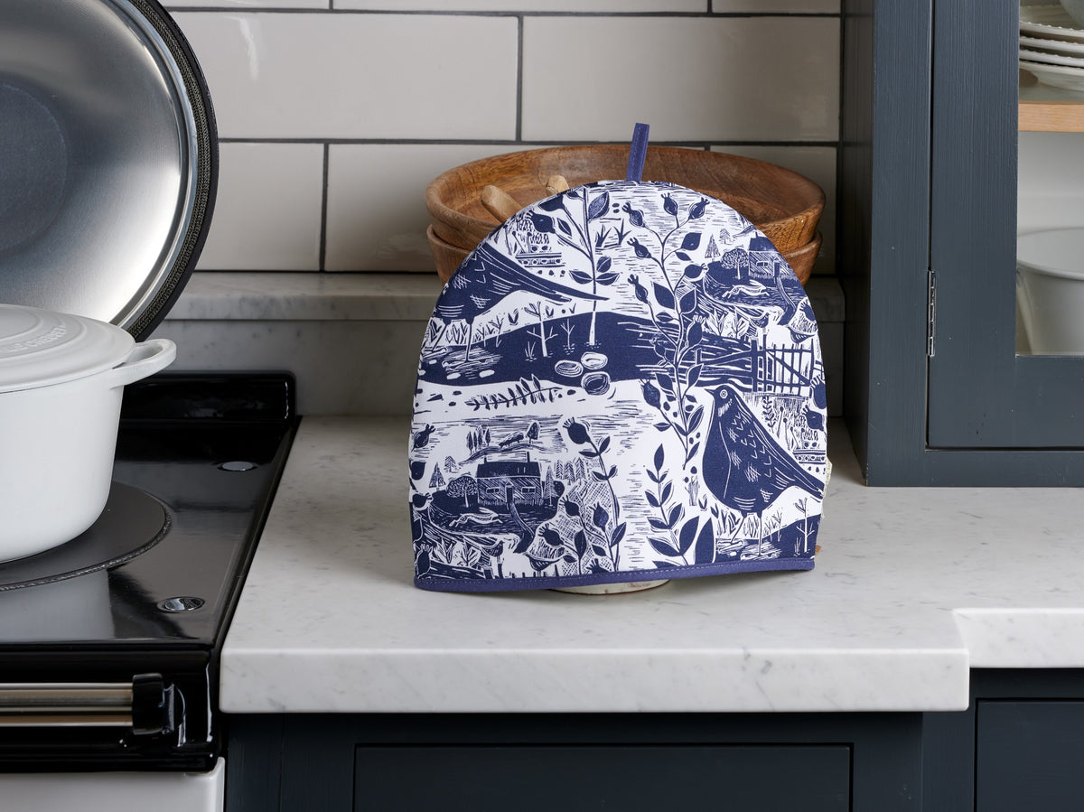 Sam Wilson Garden Bird Navy Tea Cosy