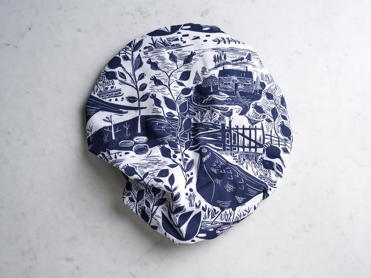 Sam Wilson Navy Garden Bird Shower Cap