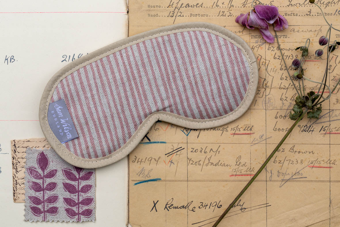 Pink Stripe Eye Mask