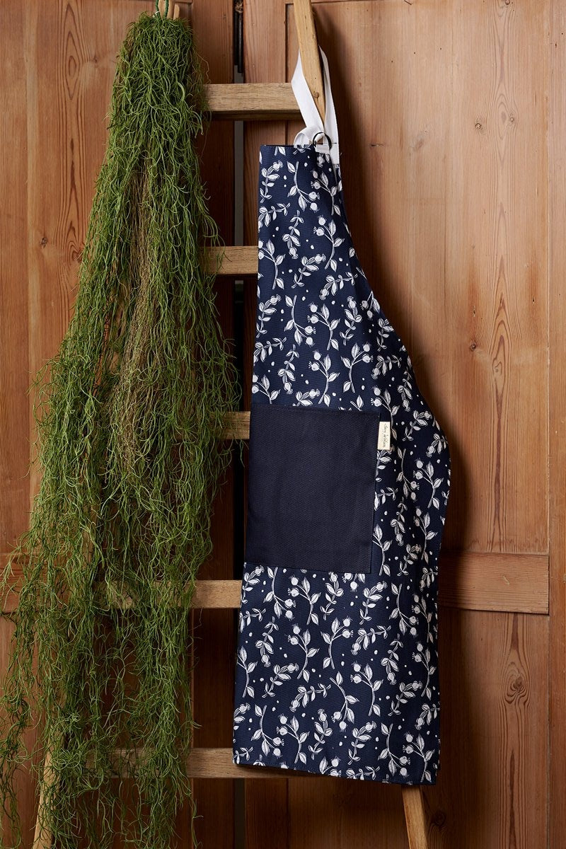 Sam Wilson Rosehip Navy Cotton Apron