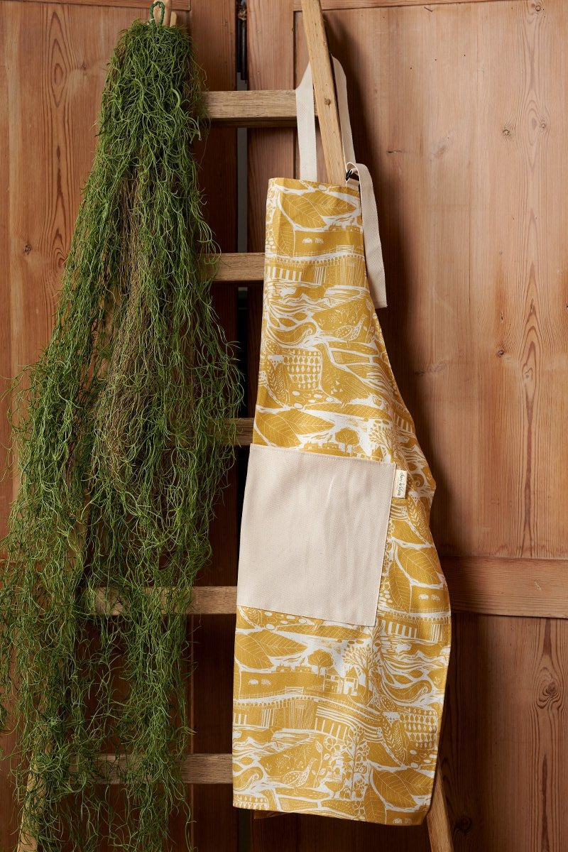 Sam Wilson Through The Fields Ochre Cotton Apron
