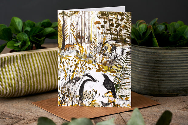 Badger & Crow Greetings Card