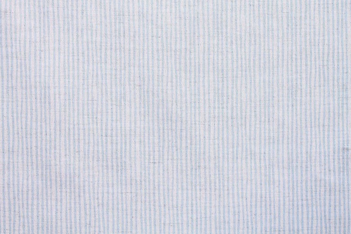 Sam Wilson New Blue Stripe Linen Fabric