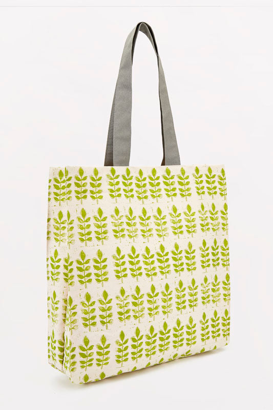 Sam Wilson Green Leaf Canvas Bag
