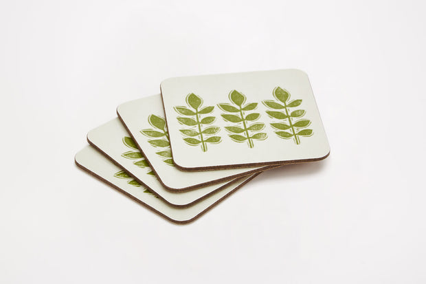 Sam Wilson Green Leaf Coasters - Set of 4