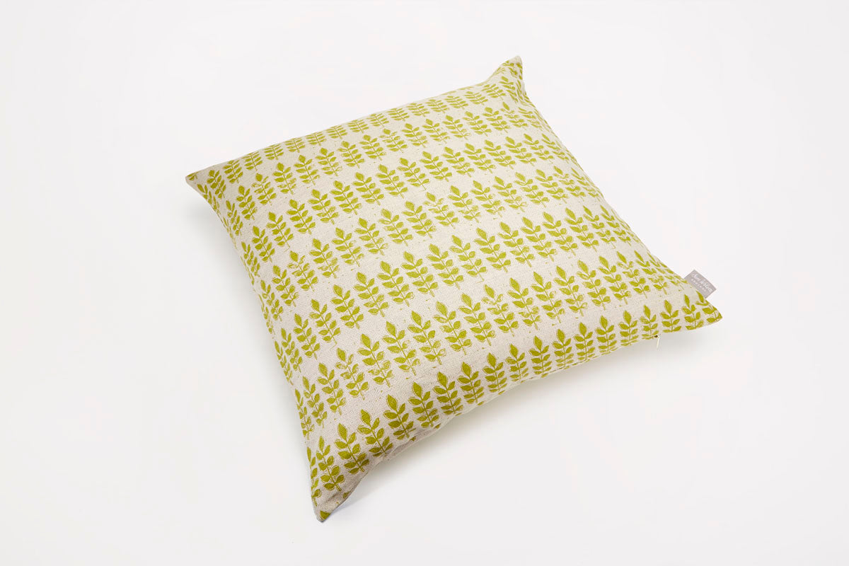 Sam Wilson Large Green Leaf Cushion
