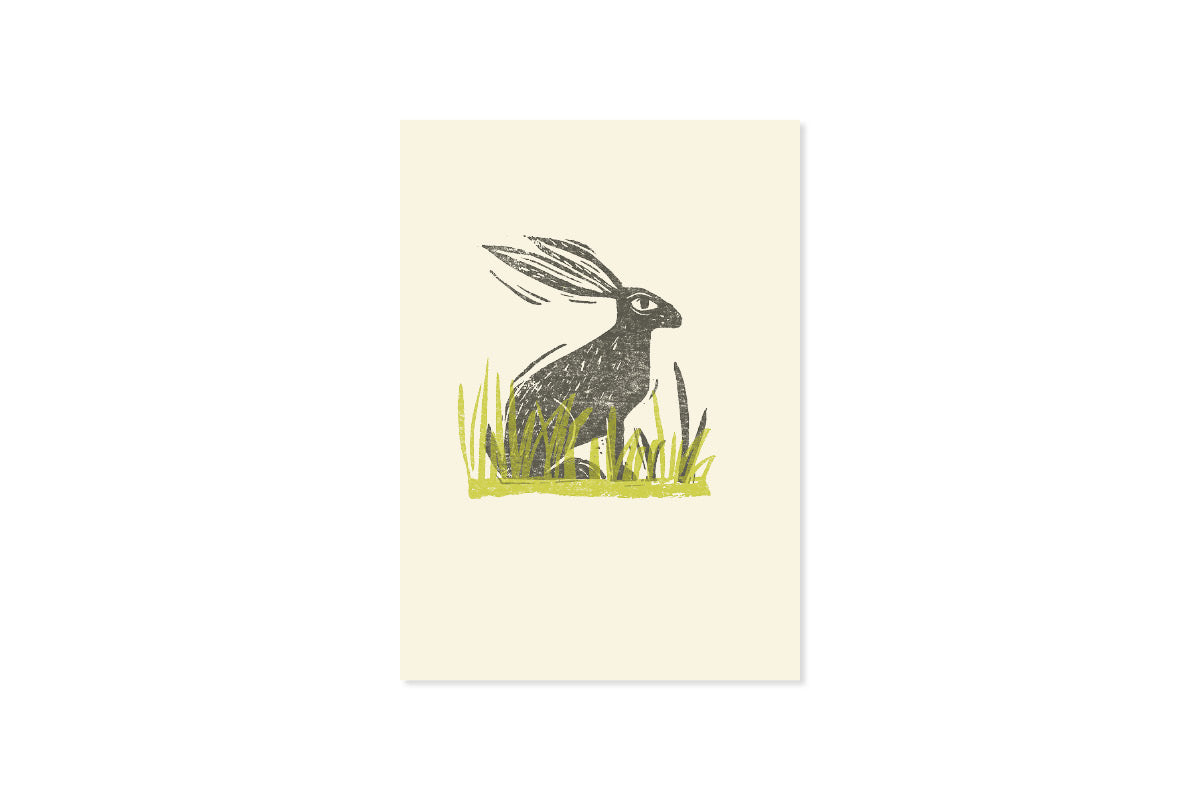 Sam Wilson Hare In The Grasses Greetings Card