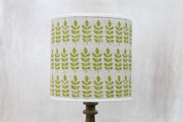 Sam Wilson Green Leaf Linen Lampshade