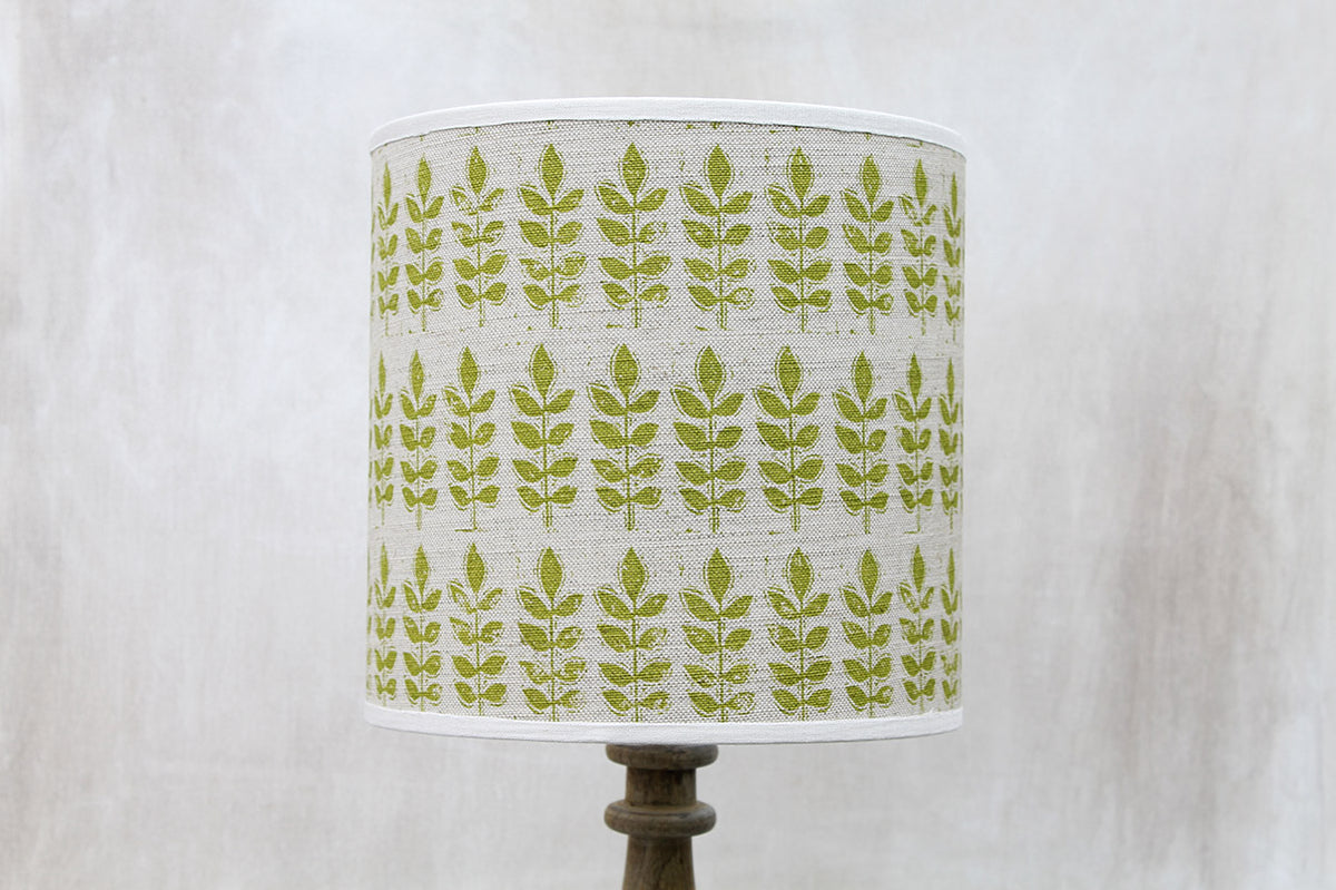 Green Leaf Linen Union Lampshade