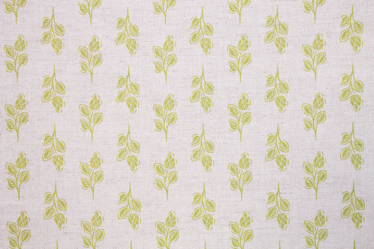 Sam Wilson Green Flora Linen Fabric
