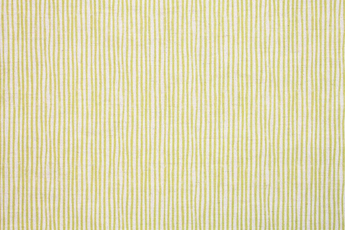 Sam Wilson Green Stripe Linen Fabric