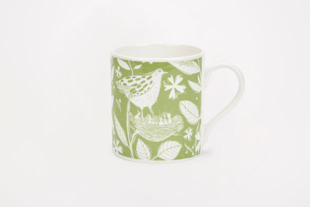 Sam Wilson Green Hedgerow Pattern Mug