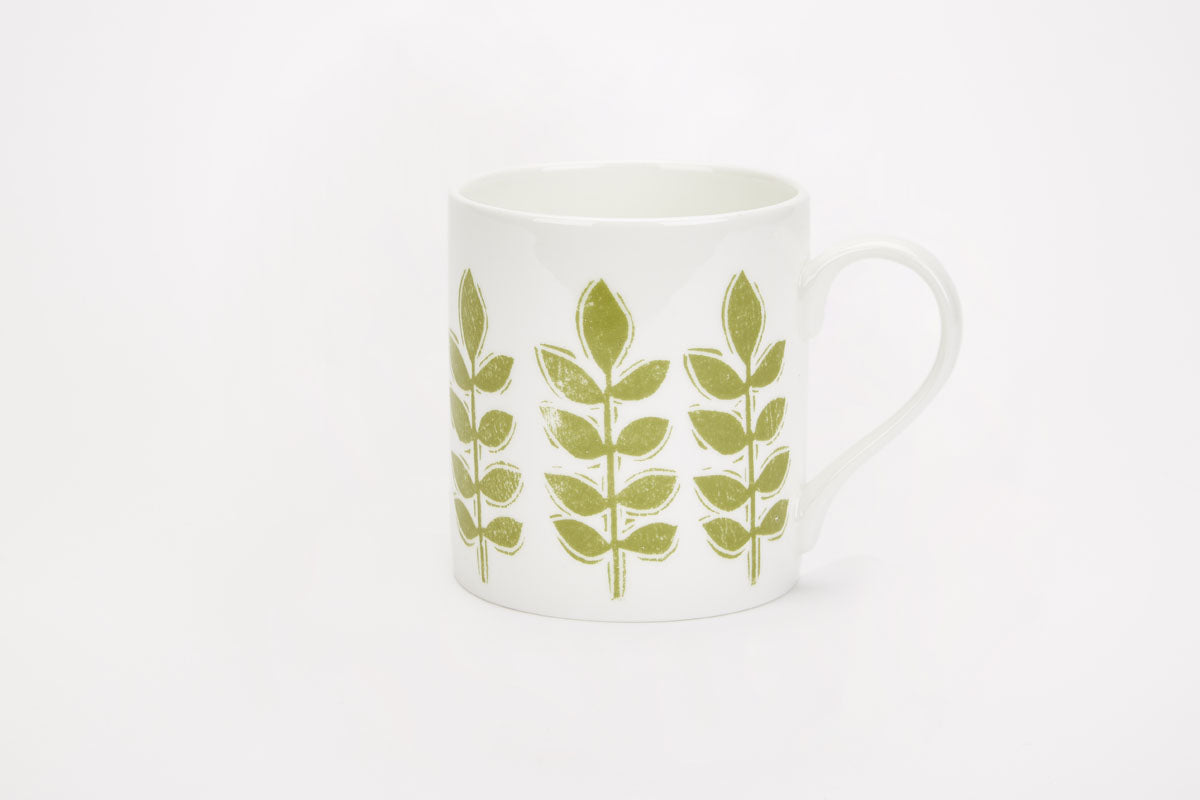 Sam Wilson Green Leaf Mug
