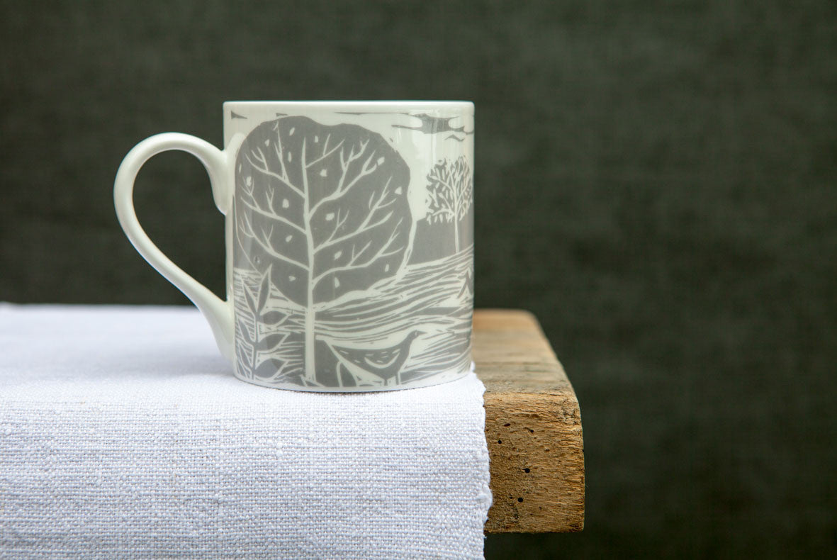 Owl and Fox Landscape Mug