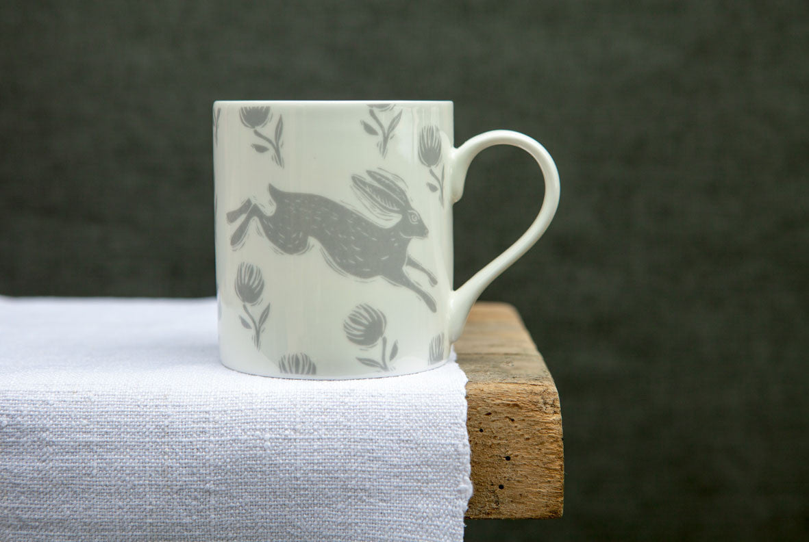 Running Hare Large Pattern Mug