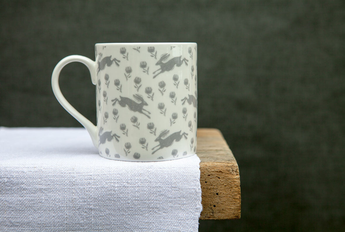 Sam Wilson Running Hare Small Pattern Mug