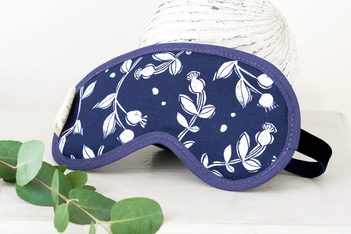 Sam Wilson Rosehip Navy Eye Mask