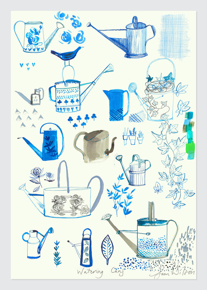 Sam Wilson Watering Cans Print