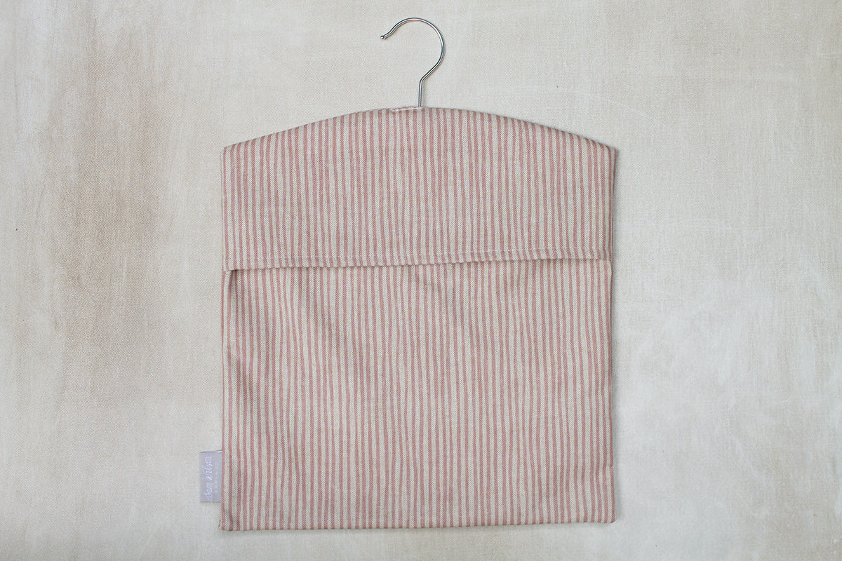 Sam Wilson Pink Stripe Peg Bag